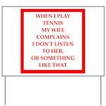 tennis Yard Sign