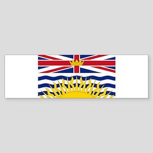 BC Flag Bumper Sticker