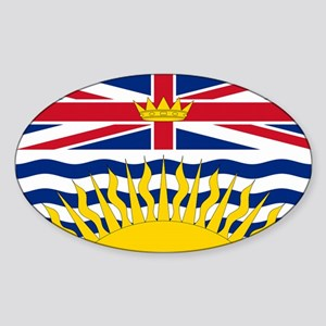 BC Flag Oval Sticker