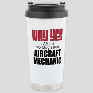 Aircraft Mechanic Stainless Steel Travel Mug