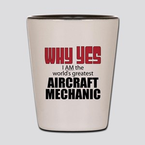 Aircraft Mechanic Shot Glass