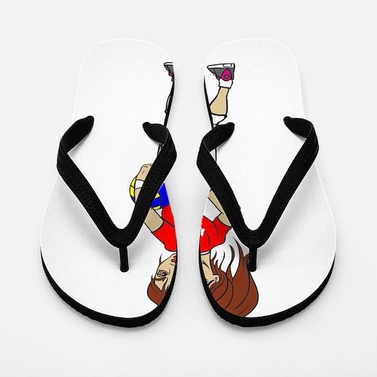 VOLLEY GIRL RED Flip Flops