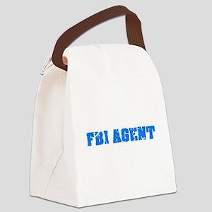 Fbi Agent Blue Bold Design Canvas Lunch Bag