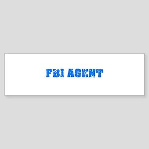 Fbi Agent Blue Bold Design Bumper Sticker