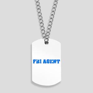 Fbi Agent Blue Bold Design Dog Tags