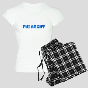 Fbi Agent Blue Bold Design Pajamas