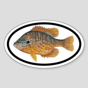 Sunfish Fishing Oval Sticker