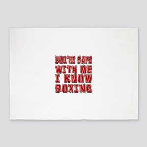 I Know Boxing 5'x7'Area Rug