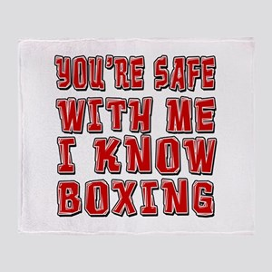 I Know Boxing Throw Blanket