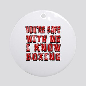 I Know Boxing Round Ornament