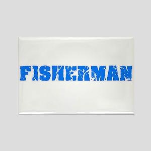 Fisherman Blue Bold Design Magnets