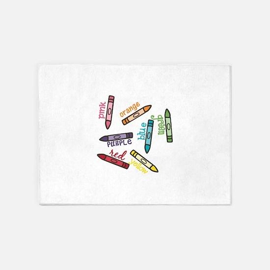 Crayon Colors 5'x7'Area Rug