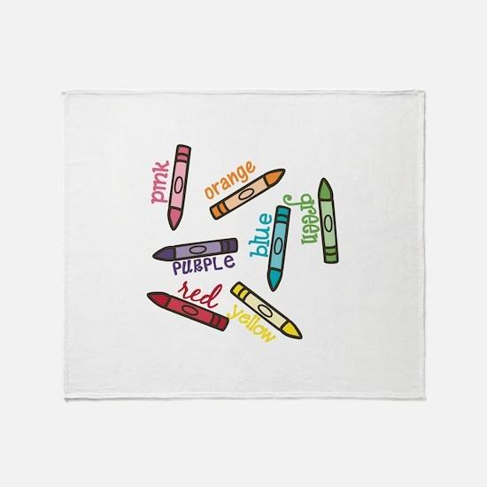 Crayon Colors Throw Blanket