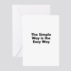 The Simple Way is the Easy Wa Greeting Cards (Pk o