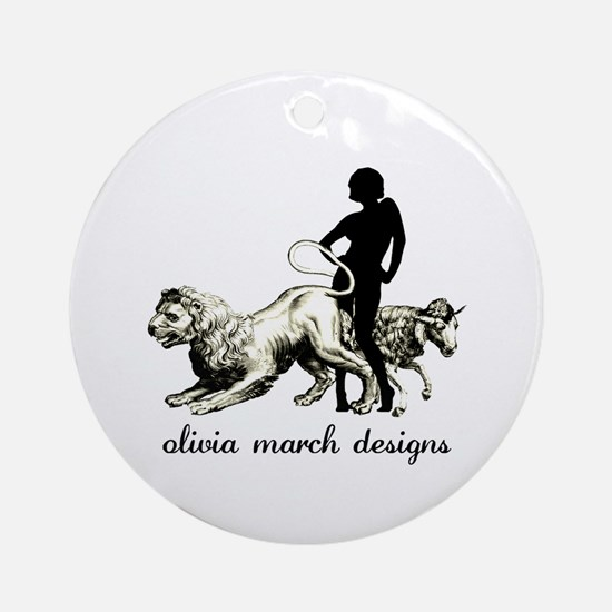 March Woman Ornament (Round)