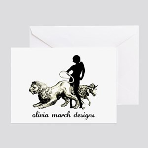 March Woman Greeting Card