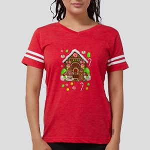 Gingerbread People & House Christmas White T-S