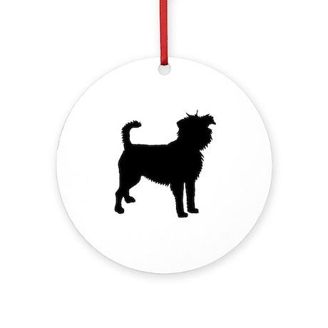 Affenpinscher Dog Ornament (Round)