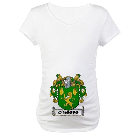 O'Keefe Coat of Arms Maternity T-Shirt