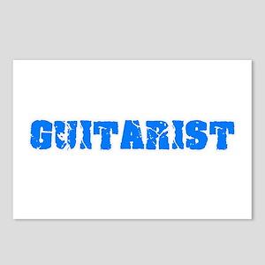 Guitarist Blue Bold Desig Postcards (Package of 8)
