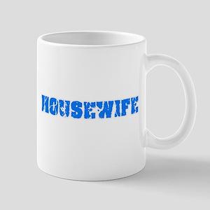 Housewife Blue Bold Design Mugs