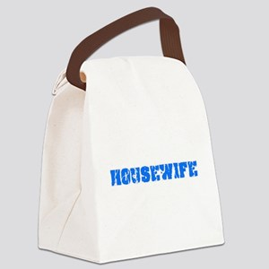 Housewife Blue Bold Design Canvas Lunch Bag
