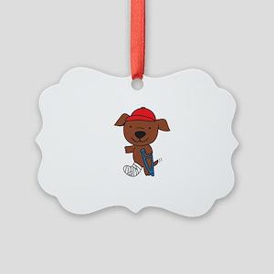 Broken Leg Dog Ornament