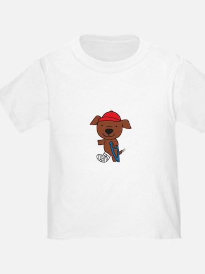 Broken Leg Dog T-Shirt