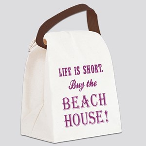 LIFE IS SHORT. Canvas Lunch Bag
