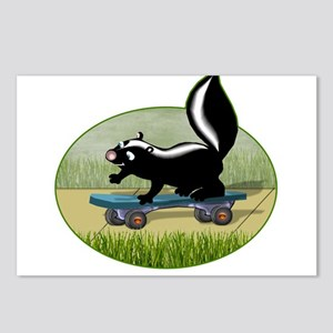 Skunk on a Skateboard Postcards (Package of 8)