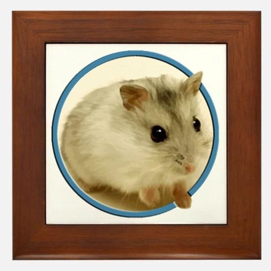 Unique Hamster Framed Tile