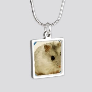 Teeny Hamster in Circle Necklaces