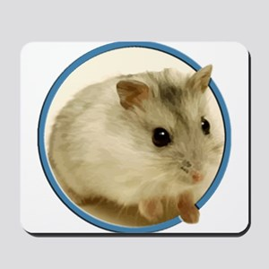 Teeny Hamster in Circle Mousepad