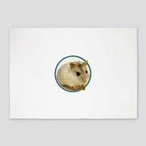 Teeny Hamster in Circle 5'x7'Area Rug