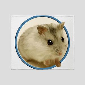 Teeny Hamster in Circle Throw Blanket