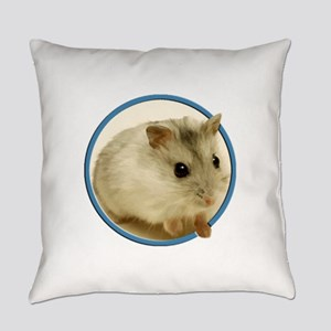 Teeny Hamster in Circle Everyday Pillow