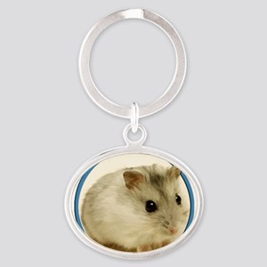 Teeny Hamster in Circle Keychains