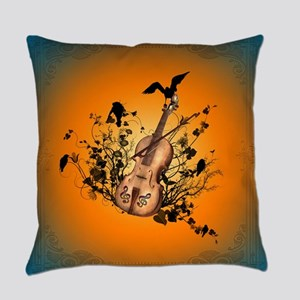 Wonderful violin and violin bow Everyday Pillow