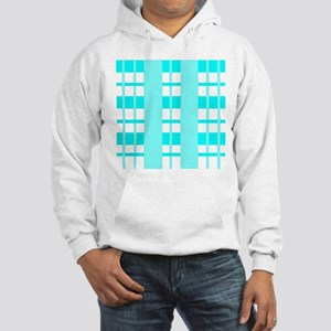 Aqua Plaid Hooded Sweatshirt
