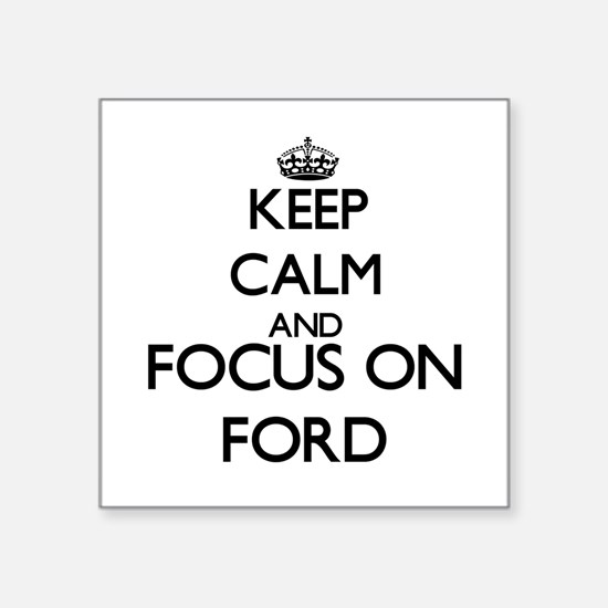 "Cute Ford focus Square Sticker 3"" x 3"""