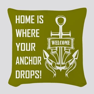 HOME IS WHERE... Woven Throw Pillow
