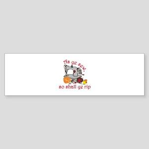 Sewing Equipment Bumper Sticker