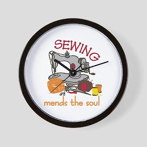 Sewing Saying Wall Clock
