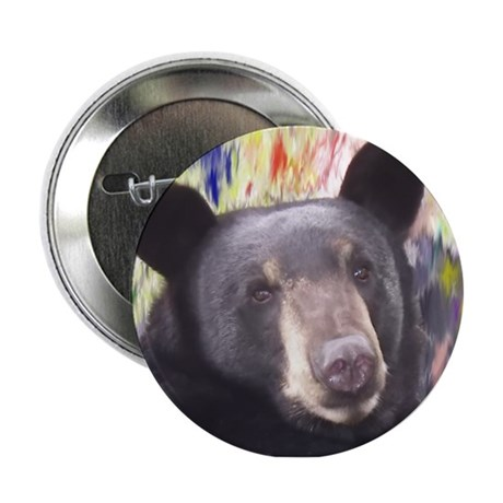 Black Bear Face Button