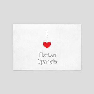 I Love Tibetan Spaniels 4' X 6' Rug