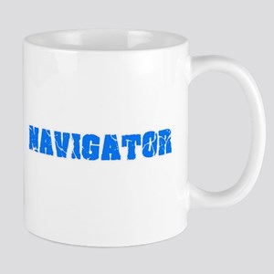 Navigator Blue Bold Design Mugs