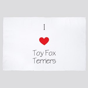 I Love Toy Fox Terriers 4' X 6' Rug