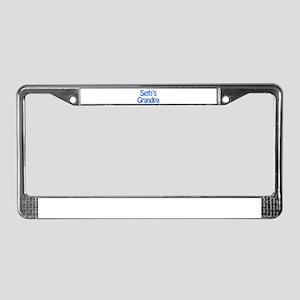 Seth's Grandpa License Plate Frame
