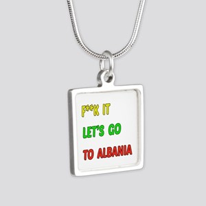 Let's go to Albania Silver Square Necklace