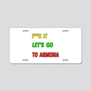 Let's go to Armenia Aluminum License Plate